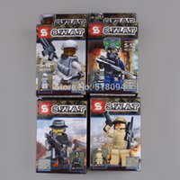 Wholesale CS S W A T Soldier Minifigures Building Blocks SY168 Sets SWAT with Weapons Block Toys Classic Toys set ANBB553