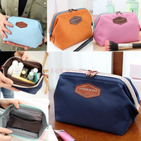 best cosmetic bag for travel - Best Selling Women s Makeup Cosmetic Cases Fashion Travel Kit Solid Colours Organizer Bag For Lady Small Zipper Cosmetic