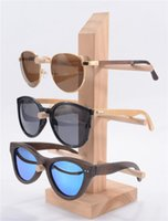 Wholesale Eyeglass display Sunglasses Holder Rack Storage Shelf Wood Hang Display Wooden Handmade detachable layers Retail