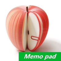 Wholesale 2015 New Style Memo pad Apple fruit design notes notepad kawaii korean Novelty stationery office supplies School supplies