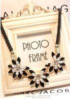 Wholesale Hot sale Brand Design western style multi layer Weave Rhinestone Flower water drop necklace jewelry statement New XL