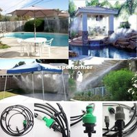 Wholesale sets m Outdoor Garden Patio Misting Cooling System Plastic Mist Nozzle