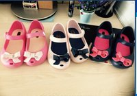 Girl pvc sandals - Girl shoes The new children s sandals Children s hight quality PVC sandals Korean fish head bow sandals jelly shoes women