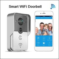 Wholesale New Arrival Stable WiFi Smart Door Doorbell Peephole Camera PIR IR Night Vision Alarm Unlock Support IOS Android