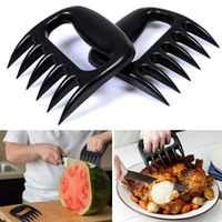 Wholesale pieces Bear Meat Claws Black BBQ Meat Claws Tools Shredding Lift Tongs Pull Handler Handling