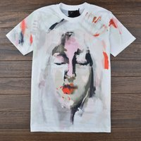 abstract shirt - 2015 summer new brand men t shirt painting abstract pattern graffiti Notre Dame cotton Short sleeve t shirt tee