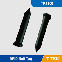 asset management tags - RFID Nail Tag with TK4100 for park management tree management asset identification KHz proximity for Patrol System
