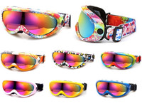Wholesale Professional Skiiing snowboard Goggles Single Lens Anti fog Windproof ski goggles Fit for Adult and Kids