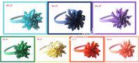 60pcs Curlers enfants boucle de cheveux boucle arcs boucliers de cheveux Fleurs boucles d'oreilles boucles d'oreilles clip de cheveux en plastique dur PD009