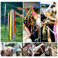 bell band - Colourful Wedding Decoration Supplies Pack Ribbon Magic Wand for European Wedding Parties Coloured Ribbon Band with Bell H16155