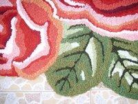Wholesale special price high quality art floor mat art rug rose carpet for wedding bedside bedroom mat bedside mat cm