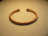 Wholesale Rose gold plated Magnetic Mens Women PURE Copper ALLOY Bracelet Bangle Helps Arthritis Pain Relief flat B01