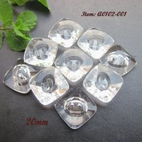 Wholesale 60pcs mm mm mm square Clear crystal acrylic buttons holes imitation crystal glass diamond button for sewing