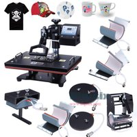 t-shirt heat transfer - New arrival Combo Heat transfer Machine sublimation for printing mug plate t shirt hot press Free ship