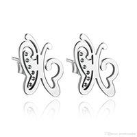mariposa pendientes de la joyería de Asia de joyería de moda joyería barata china excelente calidad E00025