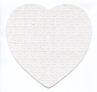 Wholesale 2015 blank sublimation heart shaped puzzle diy gift heat transfer puzzle