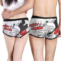 Wholesale Retail SALE Cotton Men underwear Cartoon Underwear Low waist sexy Man Boxers Short underpants Superman SpongeBob Doraemon