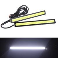 Wholesale 2 cm W COB Car LED DRL Cae Daytime Running Fog Lamp Light Bar White V