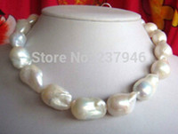 Strands, Strings australian jewelry - Fast Real Fine Pearsl Jewelry huge natural mm Australian south sea white pearl necklace inch K