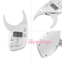 Wholesale Personal Digital LCD Body Fat Caliper Analyzer Fitness Slim Keep Health Tester Body Fat Monitor Sebum Meter Fat Folder Slimming Shaper