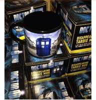 Wholesale New Cup Doctor who Mug Disappearing Tardis mug with Original Box Awesome Heat sensitive Police Coffee Cup Doctor Who christmas mugs R1481