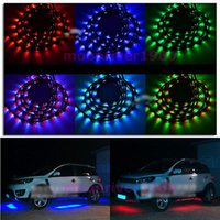 Wholesale B39 Colors LED RGB Underbody Under Car Strip Flash Light Lamp With Remote Control
