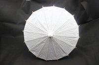 paper parasols - Popular Small Craft White Paper Parasols Children DIY Painting Umbrellas Handmade Diameter inches Plain White Decorative Umbrellas