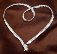 Wholesale 20INCHS MM Promotion mm Solid Sterling Silver Smooth Snake Chain Necklace inch