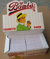 cigarette rolling machine - BIG BAMBU SIZE mm mm cigarette rolling paper booklets a box papers a booklet for mm rolling machine grinder glass bong hot