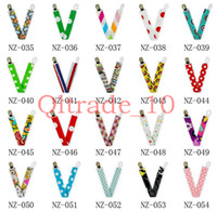 Wholesale 50PCS HHA311 Ribbon Baby Chevron Pacifier Clips Printed Pacifier Clips Solid color Printed Owl Anima Cartoon dot Zigzag Pacifier Clips