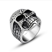band lucky - High Quality Lucky Man Skull Men s Ring L Stainless Steel Ring Punk Biker Jewelry Hot Fashion R0500