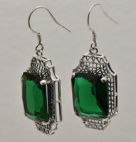 pendant natural jade - Bohemia national wind restoring ancient ways natural jade pendant women sterling silver earrings