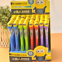 Wholesale 4 Colors Despicable Me Pencils Minions stationery Cartoon Stationery cartoon Despicable Me Propelling Pencils Best Gift For Childrens