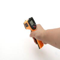 al por mayor puntos digitales-Temperatura de mano arma termómetro digital termómetro infrarrojo sin contacto del laser LCD IR Gun Point GM320 -50 ~ 330 ºC