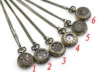achat en gros de antiquités montre de poche-Lot de 20pcs mix style montre de poche antique avec la chaîne, collier classique Montres de poche