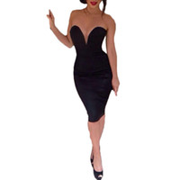 Wholesale S5Q Womens Sexy Hip Slim Pencil Skirt Off Shoulder Package Party Cocktail Dress AAAEEZ