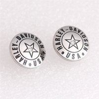 Wholesale 2pairs new arrival biker style star earrings L stainless steel band party fashion jewelry biker earrings