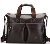 Wholesale Male shoulder bag casual messenger bag business bag man bag genuine leather bag briefcase laptop bag new top sale