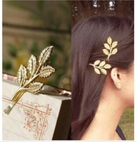 Clip & Pin beautiful leaves - Fashion bridal Hair Accessories new hot Olive Branches Leaves Beautiful Bride Hair pins Side Folder hair Jewelry