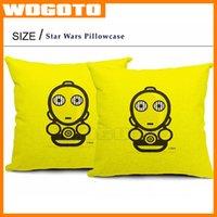 Top qualité Star Wars Taie d'oreiller décoratif Coussin 18 * 18 pouces draps en coton Coussin Coussin affaire DHL cadeau Enfants navire rapide