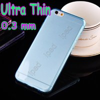 cases - 0 mm Ultra Thin Clear Transparent Soft Case High flexibility Rubber Cover Silicone Cases for quot quot iPhone Plus