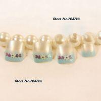acrylic toenails - x Acrylic False Toenails Gradient Lake Blue Beauty s Toes Fashion Summer Must