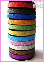 Wholesale Mix color mm width mm length Glinting PU Leather wristband DIY Accessories can through mm slide letters charms