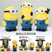 bb animations - Despicable me small yellow vinyl doll with BB post children s educational toys gifts Foreign Animation