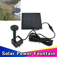 Wholesale 2015 set Solar Power Panel Kit Brushless Cycle Water Pump Submersible Watering For Garden Pond Fountain Electronic Rockery
