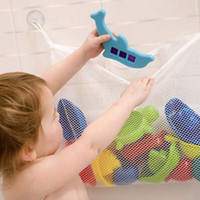 Fabric bath mesh bag - Baby Kids Bath Tub Toy Tidy Storage Suction Cup Bag Mesh Bathroom Net Organiser