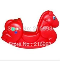 Wholesale New arrival Hot sale Thickening trojan Educational toy Plastic classic rocking horse Unisex big baby fitable