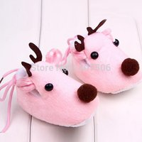 baby deer crib shoes - Cute Winter Xmas Elk Deer Style Baby Girl Boys Crib Shoes Plush Fleece Shoes