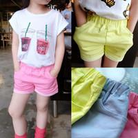 Wholesale Kids Girl Dress Kids Shorts Child Clothes Kids Clothing New Childrens Girls Summer Shorts Children Shorts Kids Pants Girls Shorts C6664