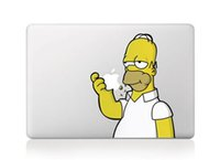Wholesale Homer Simpson Cartoon designed vinyl sticker for new Macbook for macbook Air Pro Retina inch Laptop stickers skin protectors